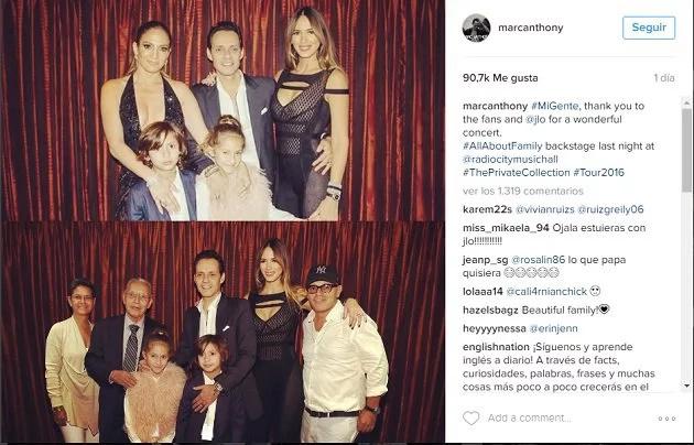 Mira el reencuentro entre Jennifer López y Marc Anthony