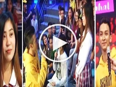 What a coincidence! Bebe Boy contestant gets shocked after seeing his ex-GF in the audience on 'It's Showtime'