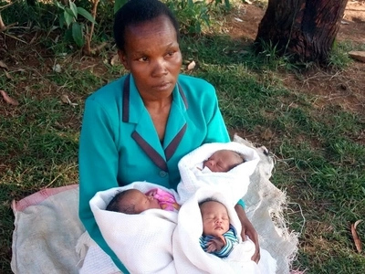 36-year-old mother who gave birth to triplets on Election Day names them after Jubilee winners
