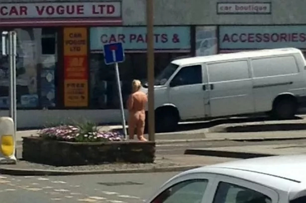 Woman walks home naked in public after an affair gone wrong