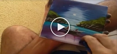 Talented talaga ang pinoy! Man creates amazing art piece in 2 minutes
