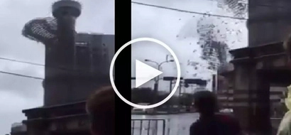Nakakatakot na bagyo! Violent super typhoon destroys train station tower in Taiwan