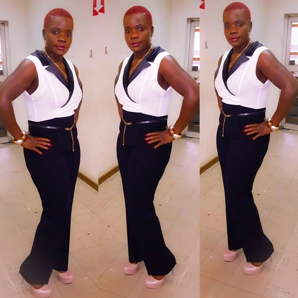 Sheila Mukize in 2015, halfway through her weight loss journey