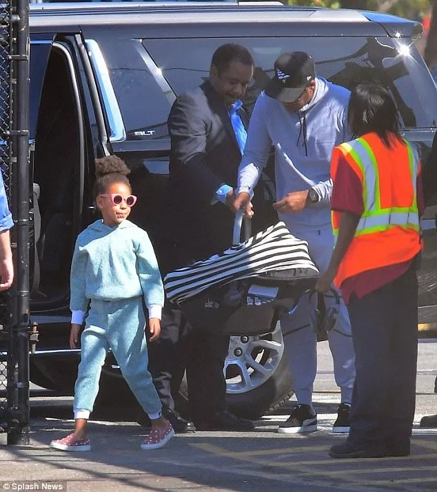 Blue Ivy also looked stylish. Photo: Splash News