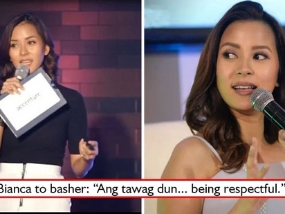Wala kayong alam! Bianca Gonzalez lectures netizen on respect after basher criticized how she hosted Star Magic Ball 2017