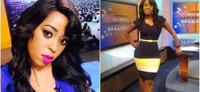 Mzee ni wewe! Citizen TVs screen siren flaunts her wasp-waistline and its lovely