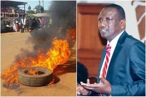 Chaos as NASA youth light BONFIRES in Bungoma during DP Ruto's visit