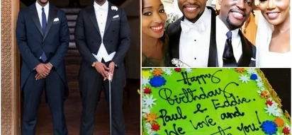 Seeing double? Janet Mbugua gushes over hubby and his twin on birthday