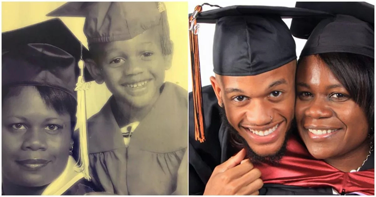 Son's emotional tribute to his graduating mom will melt your heart (photo)