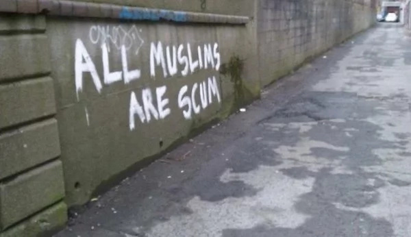 Anti-Muslim Graffiti Quickly Corrected In The Most Perfect Way