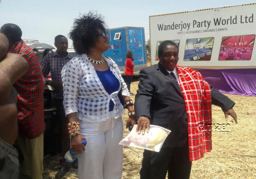 Ntimama's alleged son cast outside with crowd at funeral event