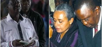 Compare and contrast: Raila in church vs Uhuru Kenyatta in church