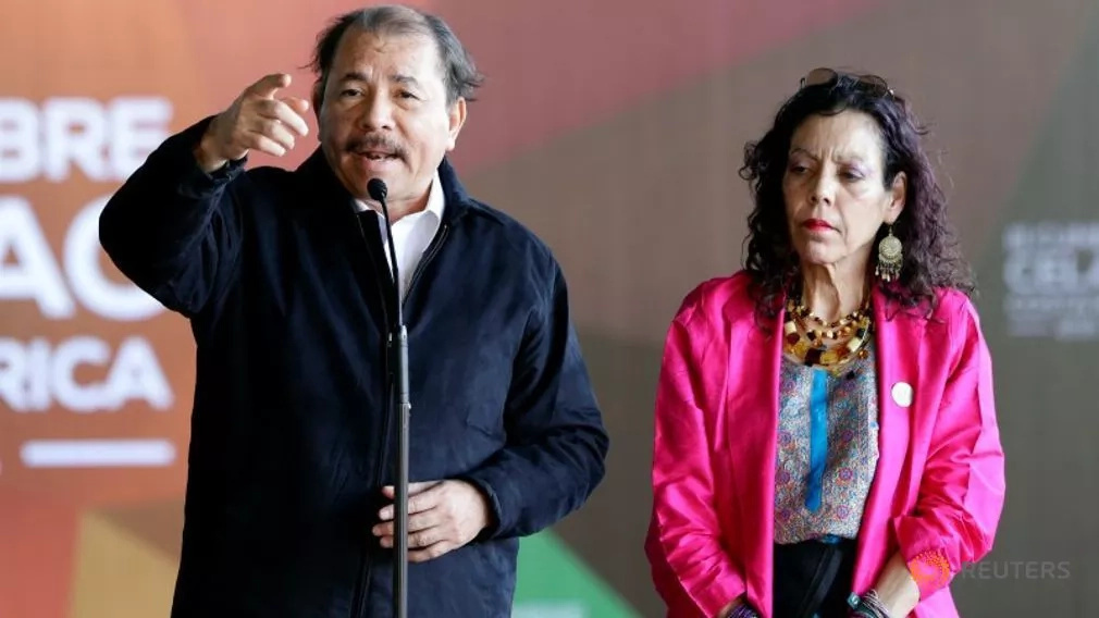 Nicaragua president names wife as running mate in upcoming elections