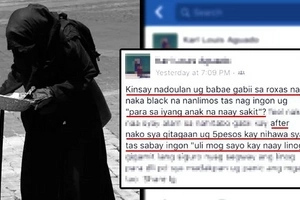 Old lady in black warned people in Davao night market minutes before the explosion