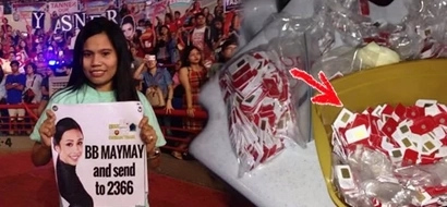 Lahat para kay Maymay! This woman bought 10,000 SIM cards to vote for Maymay and her efforts really paid off!