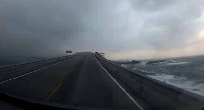 Video of car driving across the scenic Atlantic Ocean Road