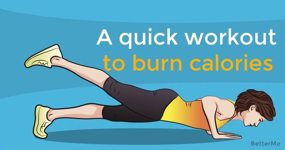 A quick workout to burn calories