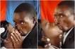 Bwana nusura amuue bi harusi aliporuhusiwa kumbusu kanisani (video)