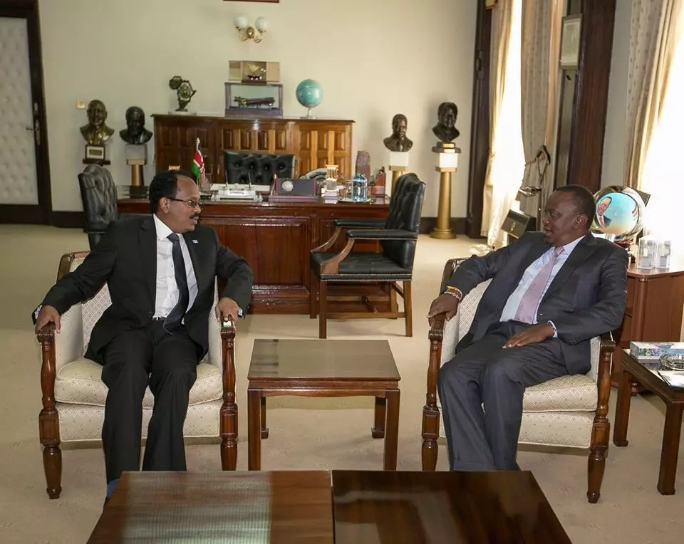 Uhuru, Somalia President hold talks in Nairobi
