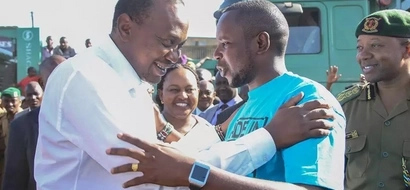 Bishop Wanjiru's son 'assaults' an elderly woman in front of Uhuru