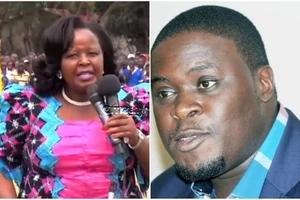 Bishop Wanjiru reacts after Sakaja withdraws from the Nairobi gubernatorial race
