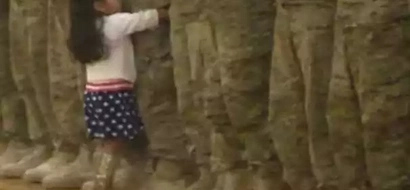 So touching! Little Girl Breaks Military Protocol To Run Into Her Father's Arms