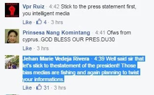 Netizens react to President Rodrigo Duterte's 'clarifications'