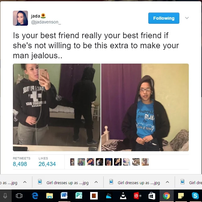 Girl, 15, dresses up as guy to make best friend's boyfriend jealous (photos)