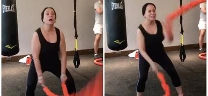 Gigil na gigil siya! Gloria Diaz shows how she stays in shape with intensive training