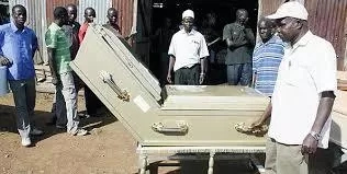 PHOTOS, VIDEO: See Bungoma Man Being Buried Seated