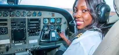 Meet youngest female commercial pilot in Africa, she conquered sky at 19 (photos)