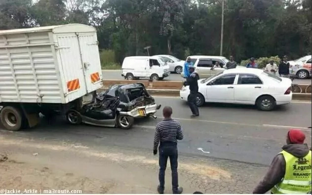 Man walks out of mangled wreckage after grisly accident