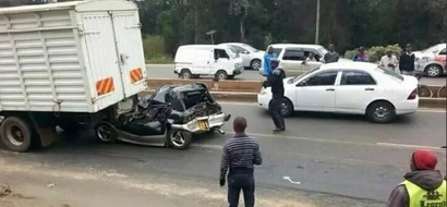 Elderly man survives deadly accident along Ngong road (photos)