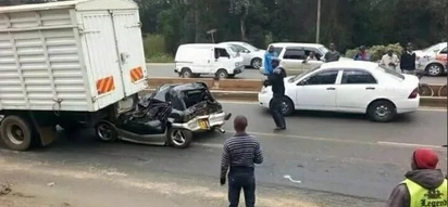 Nasty accident along Argwings Kodhek Road near Yaya Centre (photos)