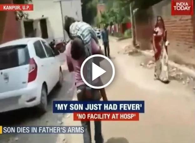 Niño muere en el hombro de su padre, mientras lo llevaba de un hospital a otro