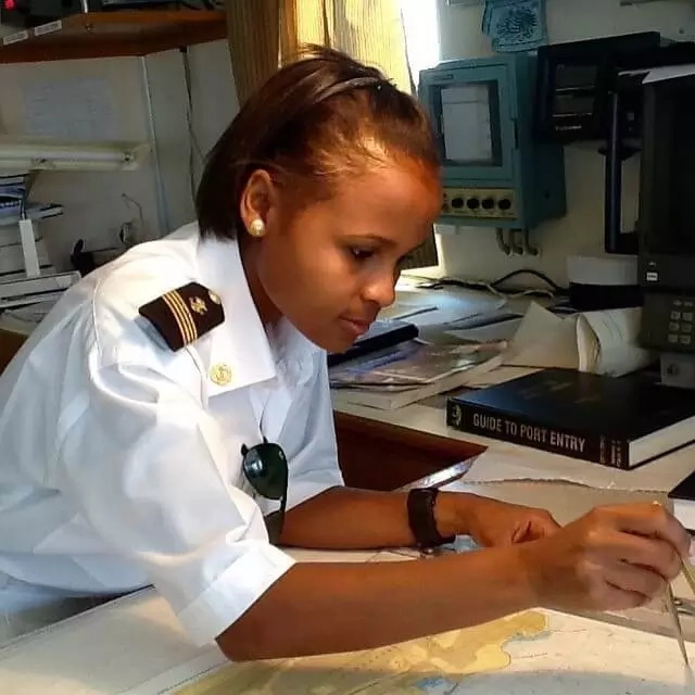 She hopes to inspire more women to join the maritime industry. Photo: She Leads Africa