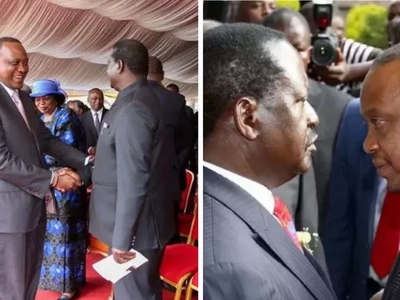 Rare form as Raila Odinga defends the Kenyatta family at the Presidential Debate