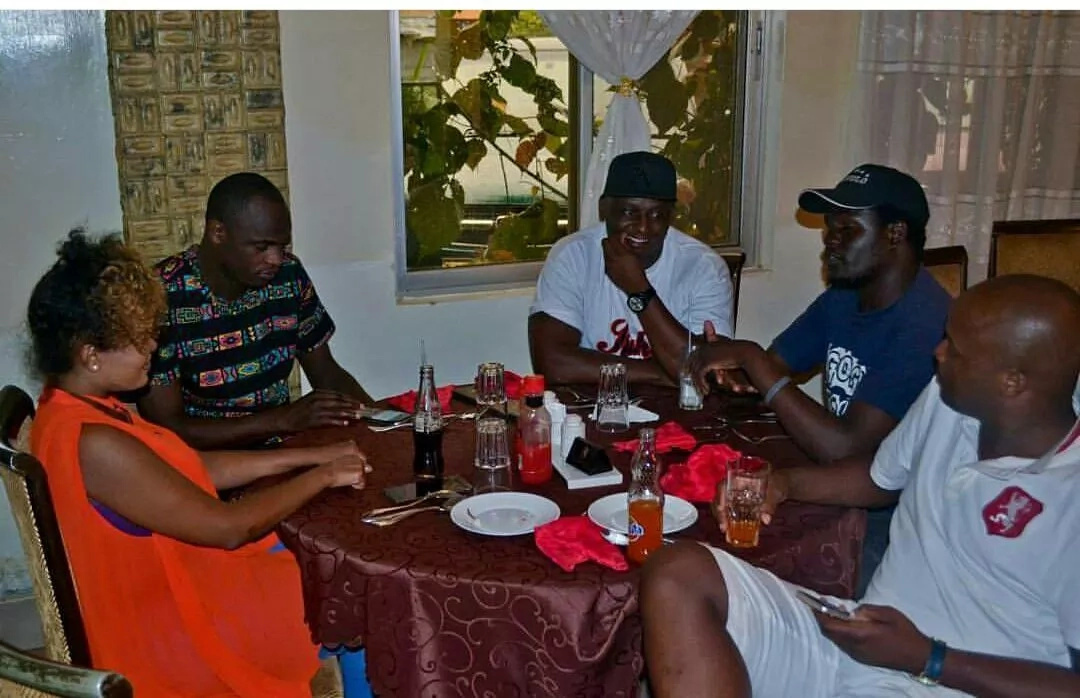 Singer Avril seen cozying with Dennis Oliech in Busia- what's cutting?