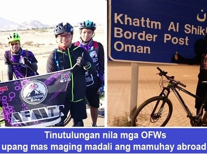 Bayani sa labas ng bansa! OFWs find help in Filipino biker group in Middle East to adapt to new life abroad