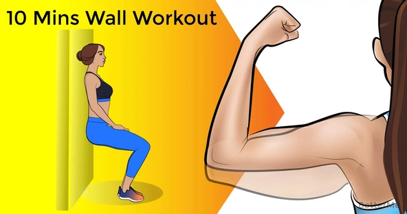10-minute wall workout to get rid of flab from arms and tummy