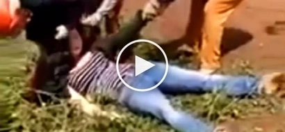 Young mistress gets brutally knocked out in public by lover's violent wife