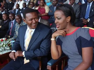 Alfred Mutua's wife lights up the internet with a 'bedroom' message for the governor