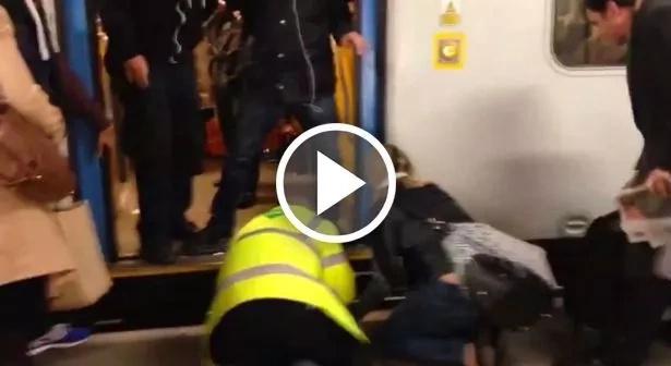 Rescatan a perro atrapado en las vías del tren