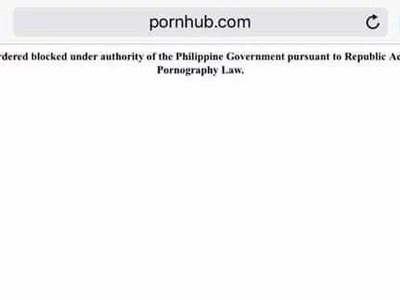 Adult websites blocked by PH government after study shows Filipinos spend the most time watching 'dirty' content