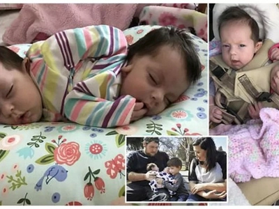 Proud! Mother, 22, gives birth to healthy CONJOINED twins despite doctors advising abortion (photos)