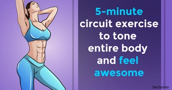 5-minute circuit exercise to tone entire body and feel awesome