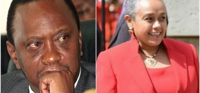 Surprise look on Uhuru's face as Margaret Kenyatta RESPECTFULLY greets MP (photo)