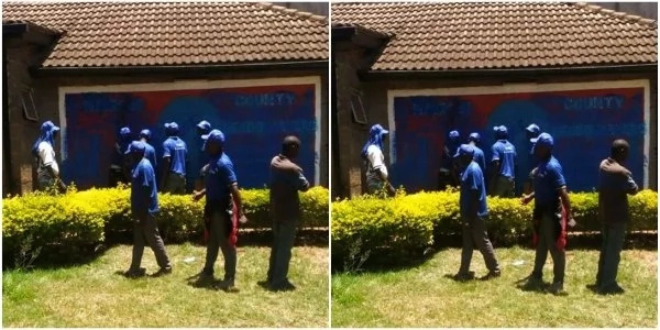 Photos of the building Munya and Uhuru are fighting over