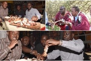 Here are 9 IRRESTISTABLE ways which you can eat Nyama choma better than Uhuru and Ruto