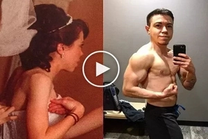 Tiny housewife always hated her body... Now she is a muscular bodybuilder!